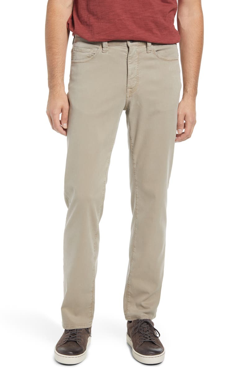 34 HERITAGE Men's Charisma Relaxed Fit Pants, Main, color, MUSHROOM SOFT CHARLESTON