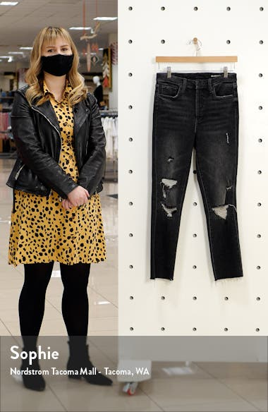 The Madison Ripped Mid Rise Straight Leg Jeans, sales video thumbnail