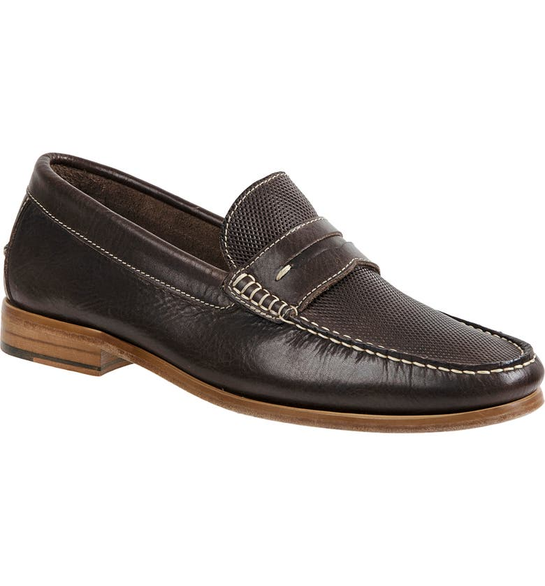 SANDRO MOSCOLONI Jeromy Penny Loafer, Main, color, BROWN