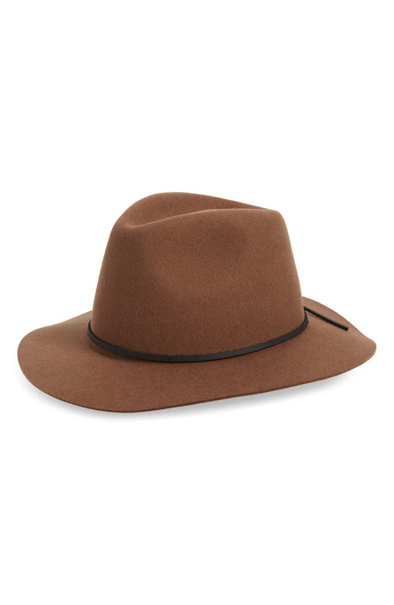 BRIXTON Wesley Felted Wool Fedora, Main, color, 200