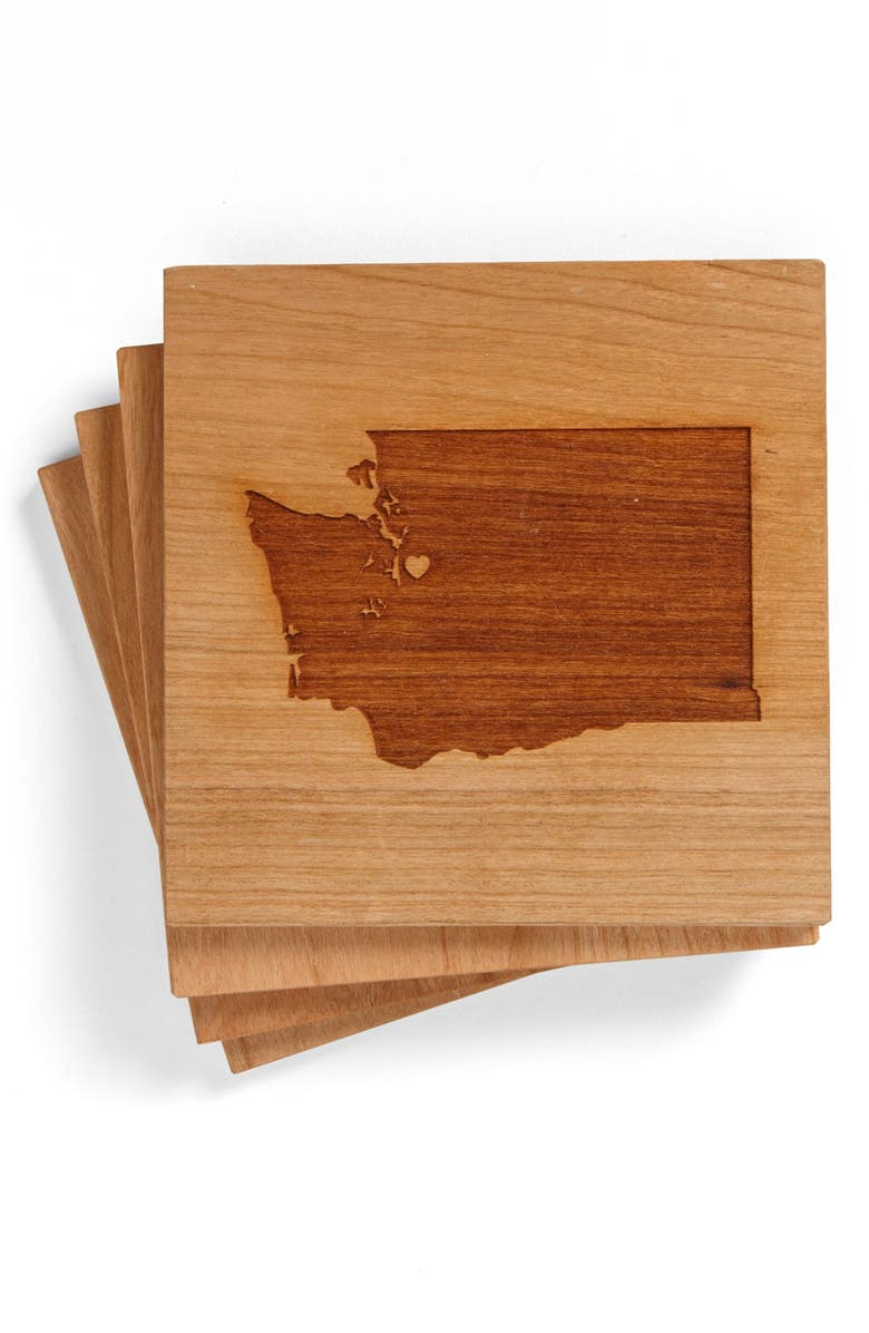 RICHWOOD CREATIONS 'State Silhouette' Coasters, Main, color, 200