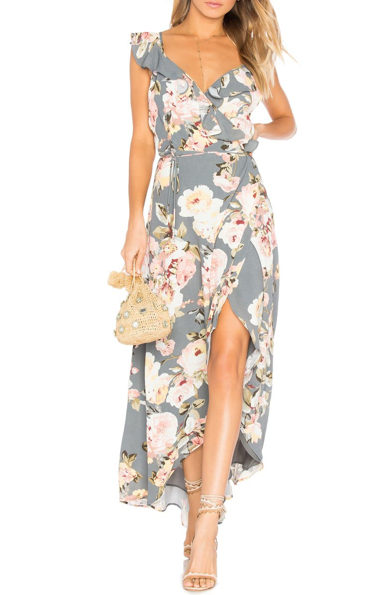 PRIVACY PLEASE Fillmore Floral Print Dress, Main, color, 020