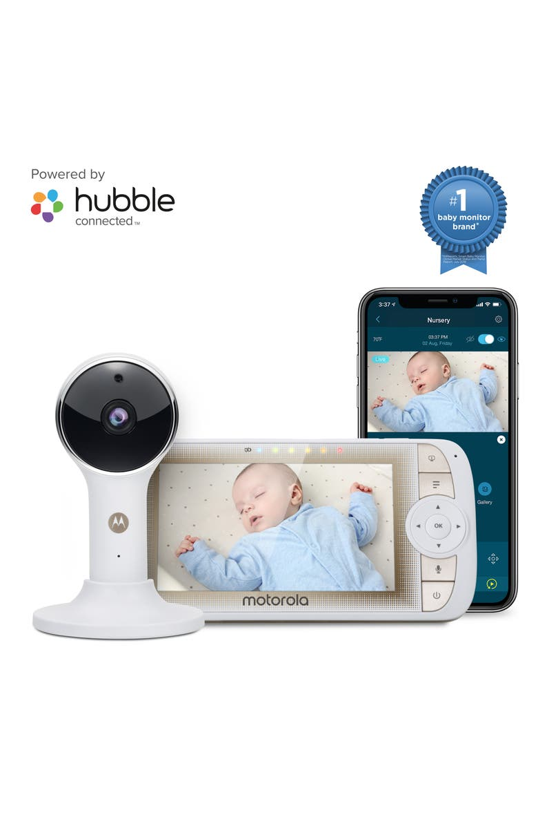 MOTOROLA Lux65 Connect 5-Inch Single Video Baby Monitor, Main, color, 100