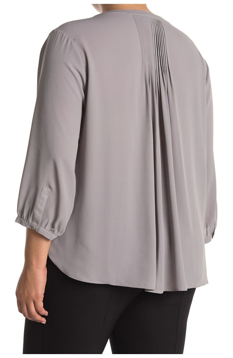NYDJ Pintuck Pleat Crepe Blouse, Main, color, EVENING DITSY