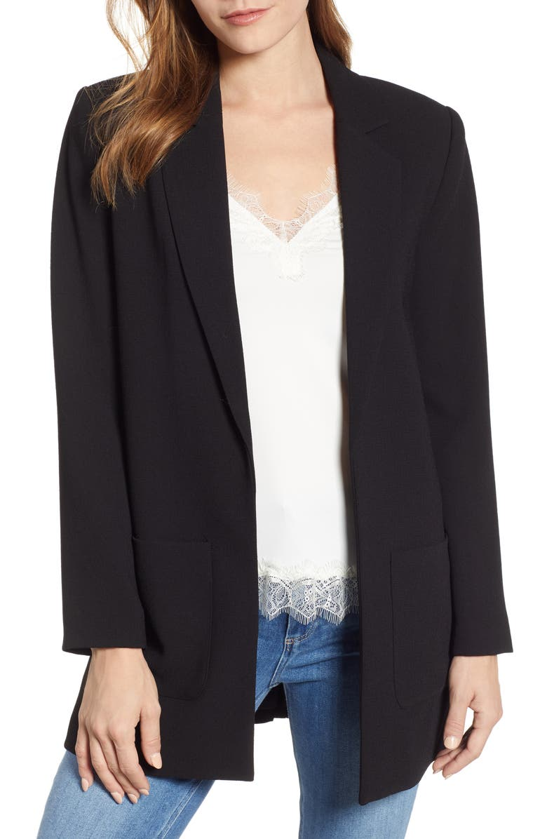 1.STATE Textured Crepe Blazer, Main, color, 001