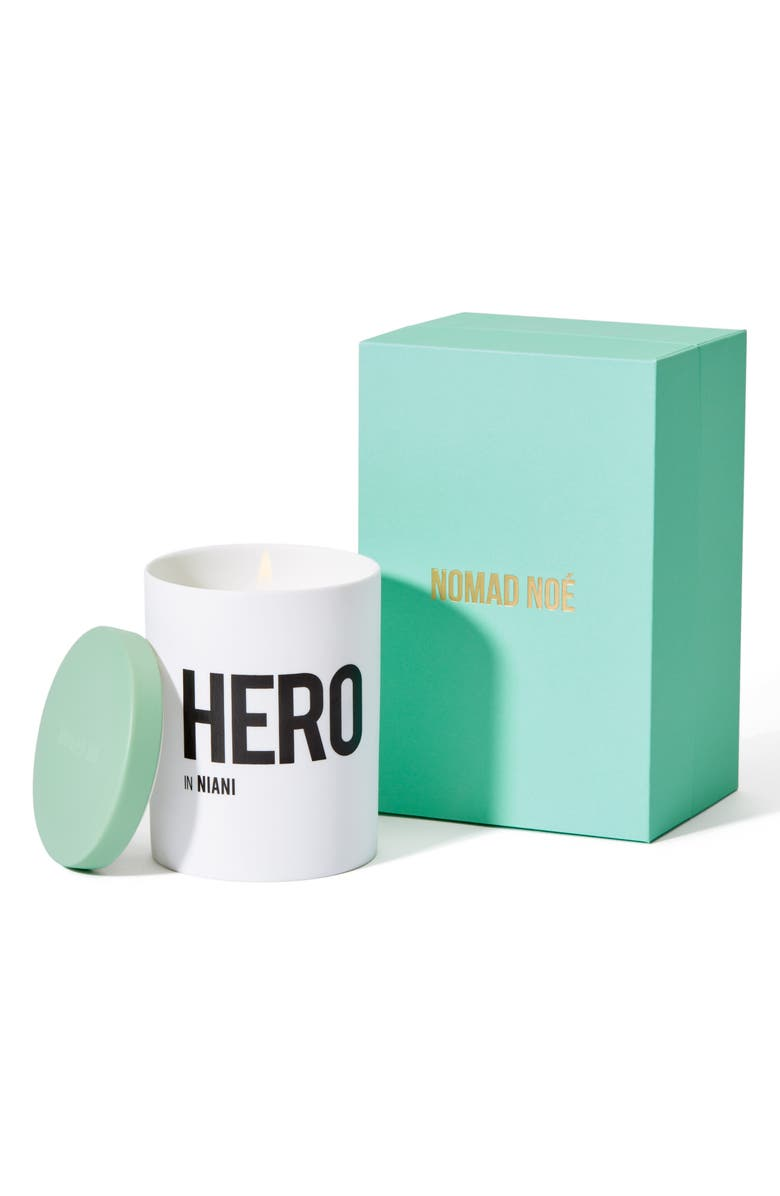 NOMAD NOE HERO In Niani Amber & Patchouli Candle, Main, color, NO COLOR