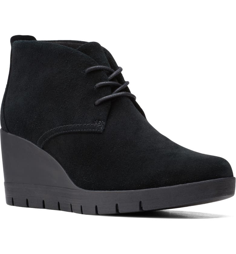 CLARKS<SUP>®</SUP> Madera Wedge Bootie, Main, color, 015