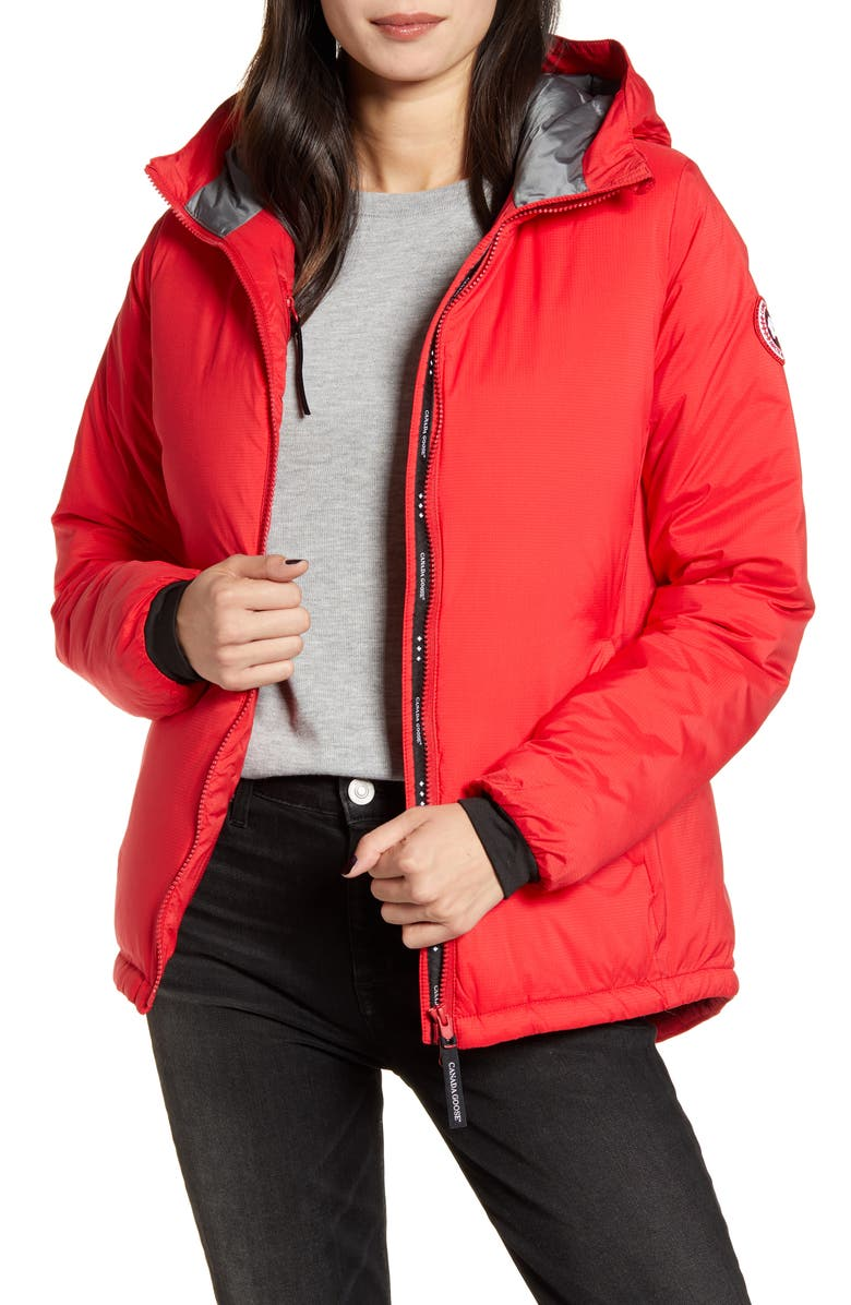 CANADA GOOSE Camp Down Hooded Water Resistant Jacket, Main, color, RED