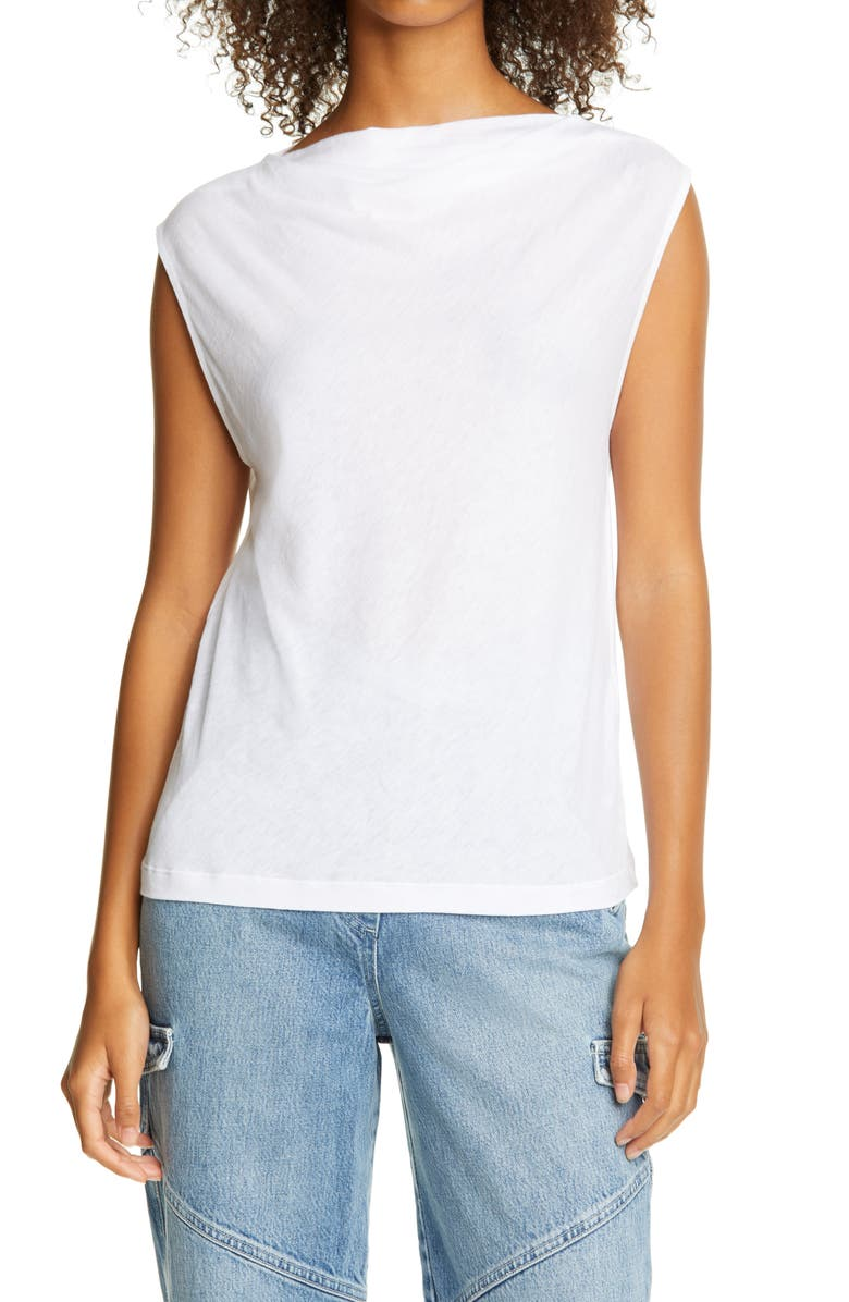 RTA Selma Cotton & Cashmere Tank, Main, color, WHITE