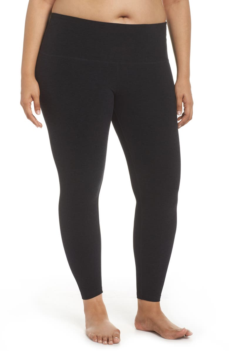 BEYOND YOGA High Waist Midi Leggings, Main, color, DARKEST NIGHT