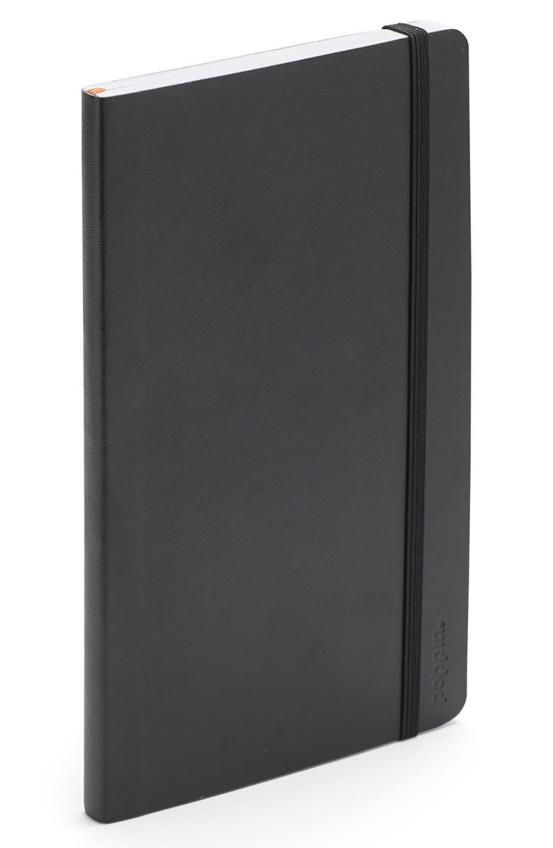 POPPIN Soft Cover Notebook, Main, color, Black