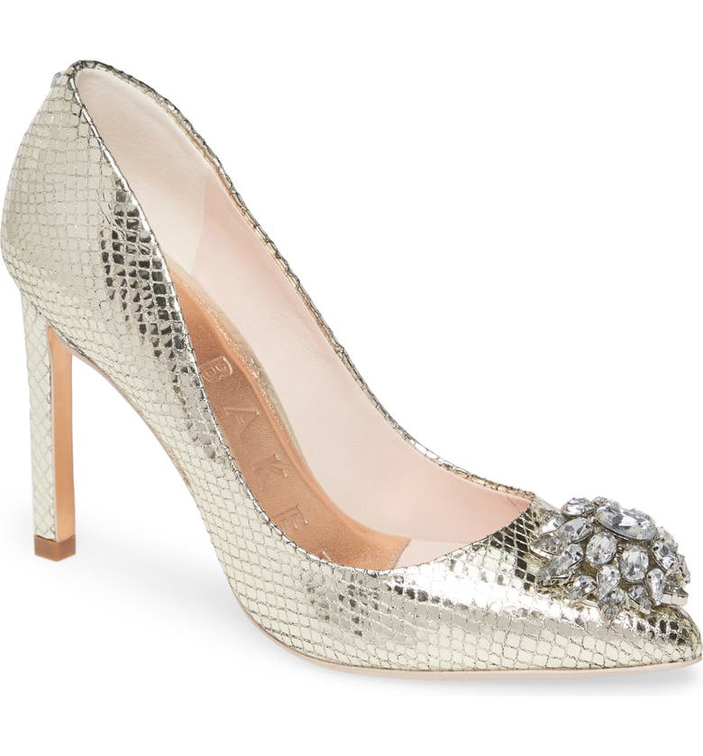TED BAKER LONDON Elannam Crystal Embellished Pump, Main, color, 712