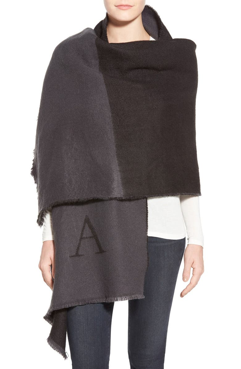 NORDSTROM Personalized Blanket Wrap, Main, color, 001