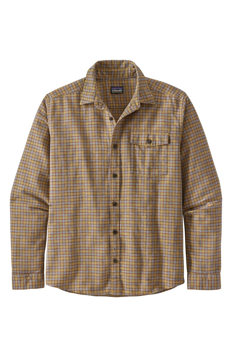PATAGONIA Regular Fit Organic Cotton Flannel Shirt, Main, color, SANTA PAULA/ MOUNTAIN YELLOW