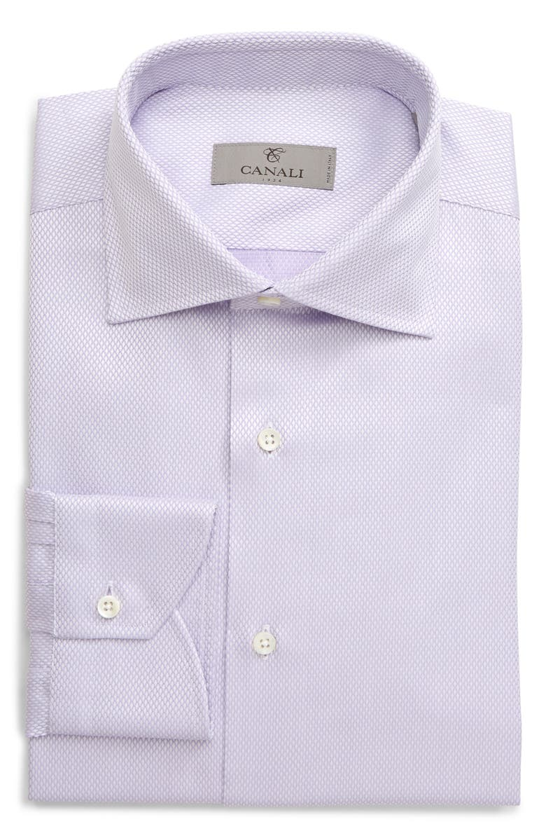 CANALI Regular Fit Diamond Textured Dress Shirt, Main, color, 500