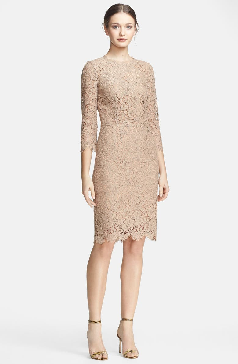 DOLCE&GABBANA Lace Dress, Main, color, 260