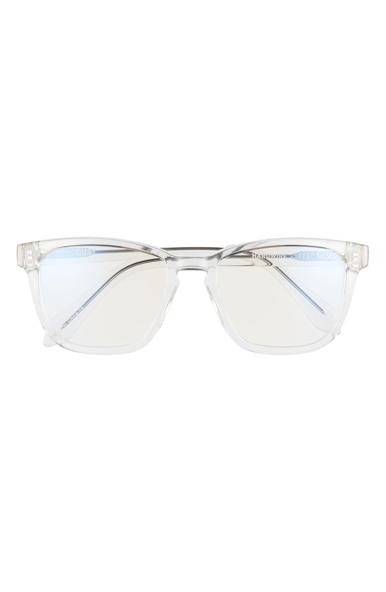 QUAY AUSTRALIA Hardwire 50mm Blue Light Filtering Glasses, Main, color, CLEAR/ CLEAR