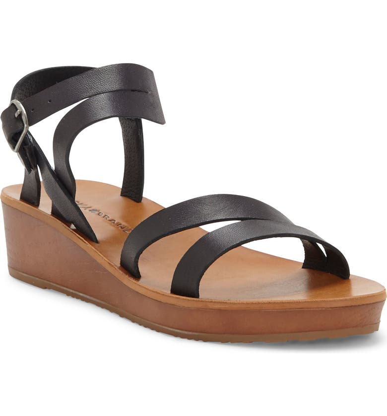 LUCKY BRAND Hecilia Wedge Sandal, Main, color, 001