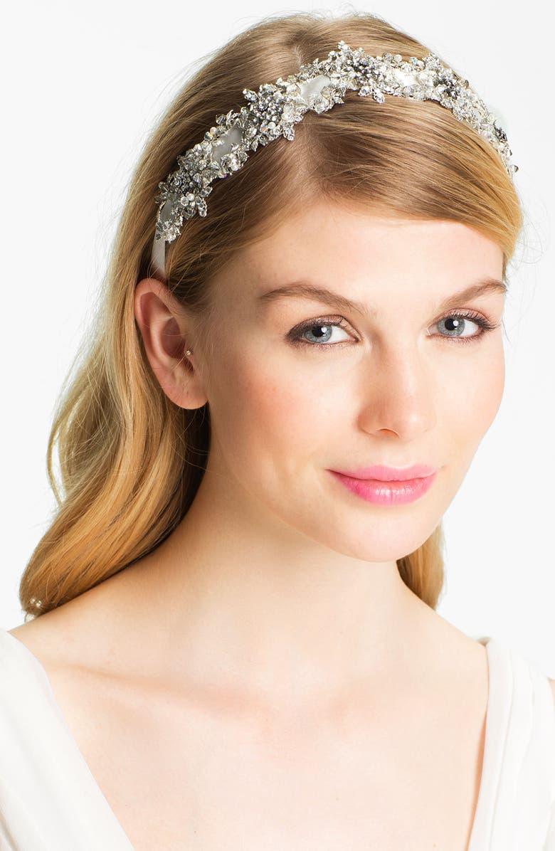 HALO & CO 'My Fairy Lady' Crystal Ribbon Headband, Main, color, 040