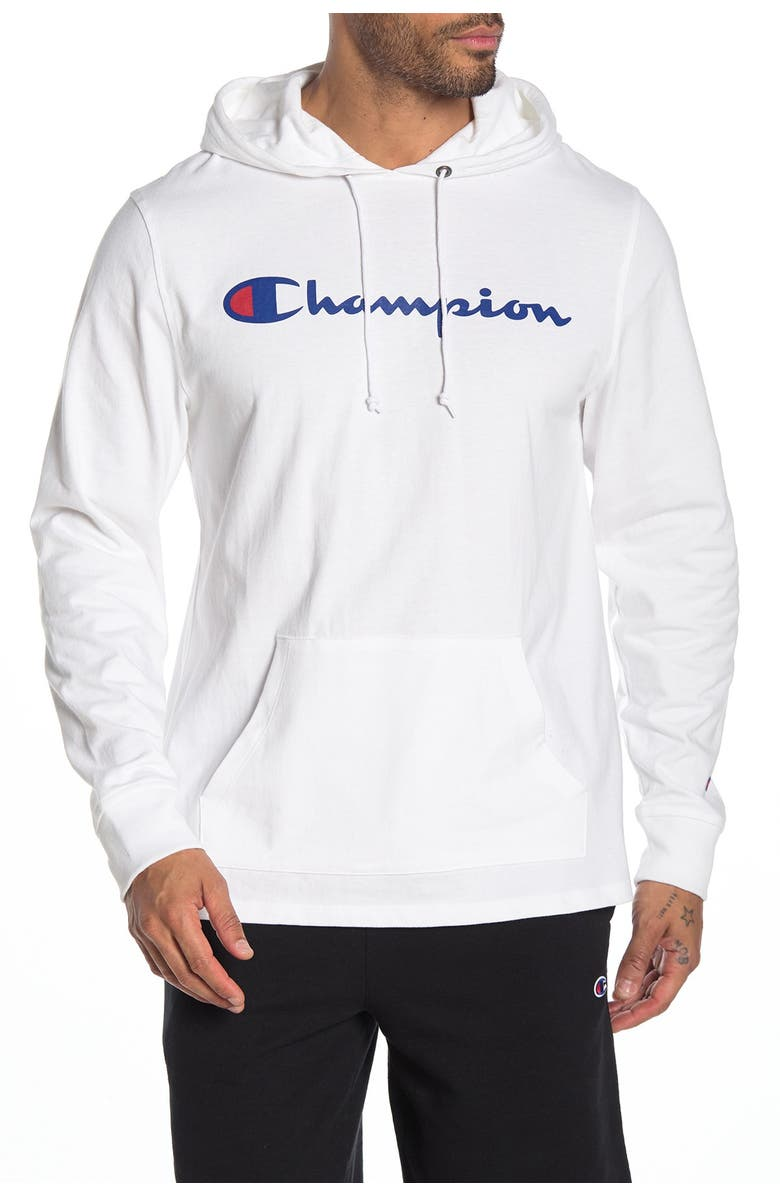 CHAMPION Heavy Weight Jersey Hoodie, Main, color, WHITE