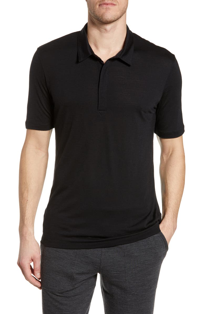 ICEBREAKER Solace Cool-Lite<sup>™</sup> Polo, Main, color, BLACK