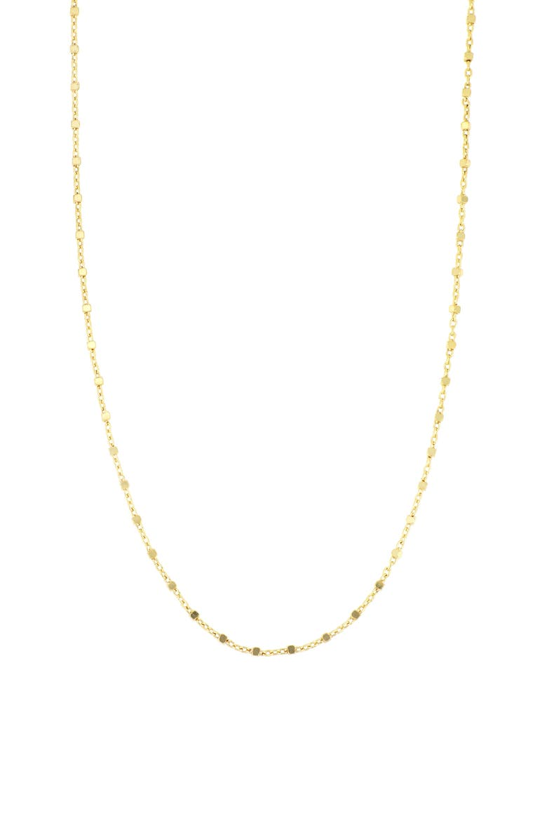 BONY LEVY Kids' Beaded 14K Gold Cube Chain, Main, color, YELLOW GOLD