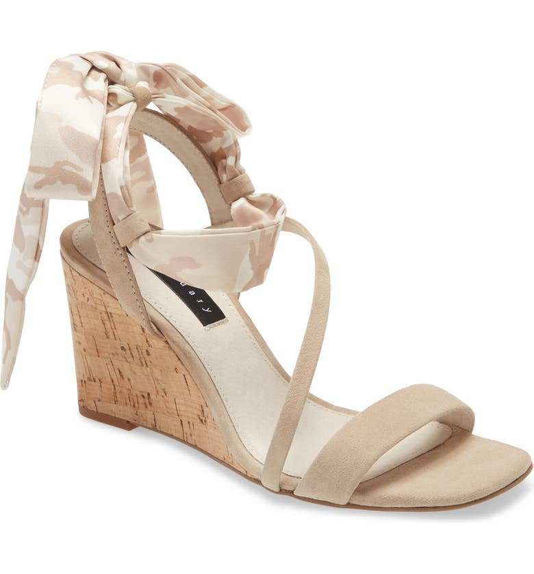 SANCTUARY Whimsy Lace-Up Sandal, Main, color, BIRCH/ BIRCH MULTI LEATHER