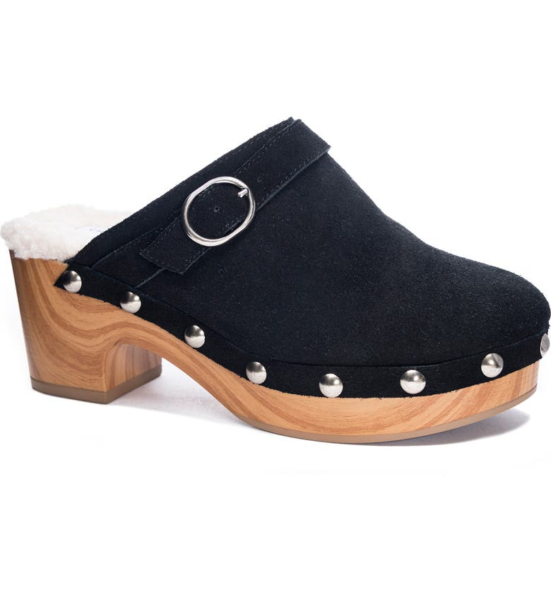 CHINESE LAUNDRY Carlie Clog, Main, color, BLACK SUEDE