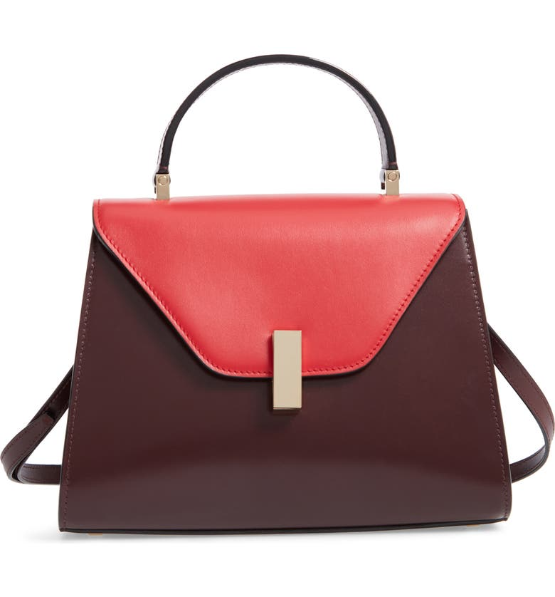 VALEXTRA Iside Medium Colorblock Leather Top Handle Bag, Main, color, 650