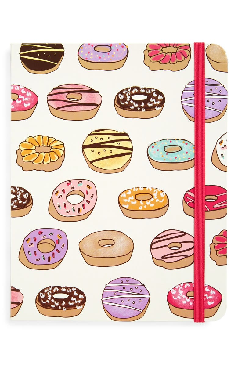PJ SALVAGE 'Donuts' Journal, Main, color, White