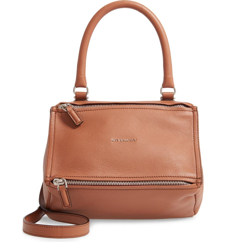 GIVENCHY Small Pandora Leather Satchel, Main, color, 200