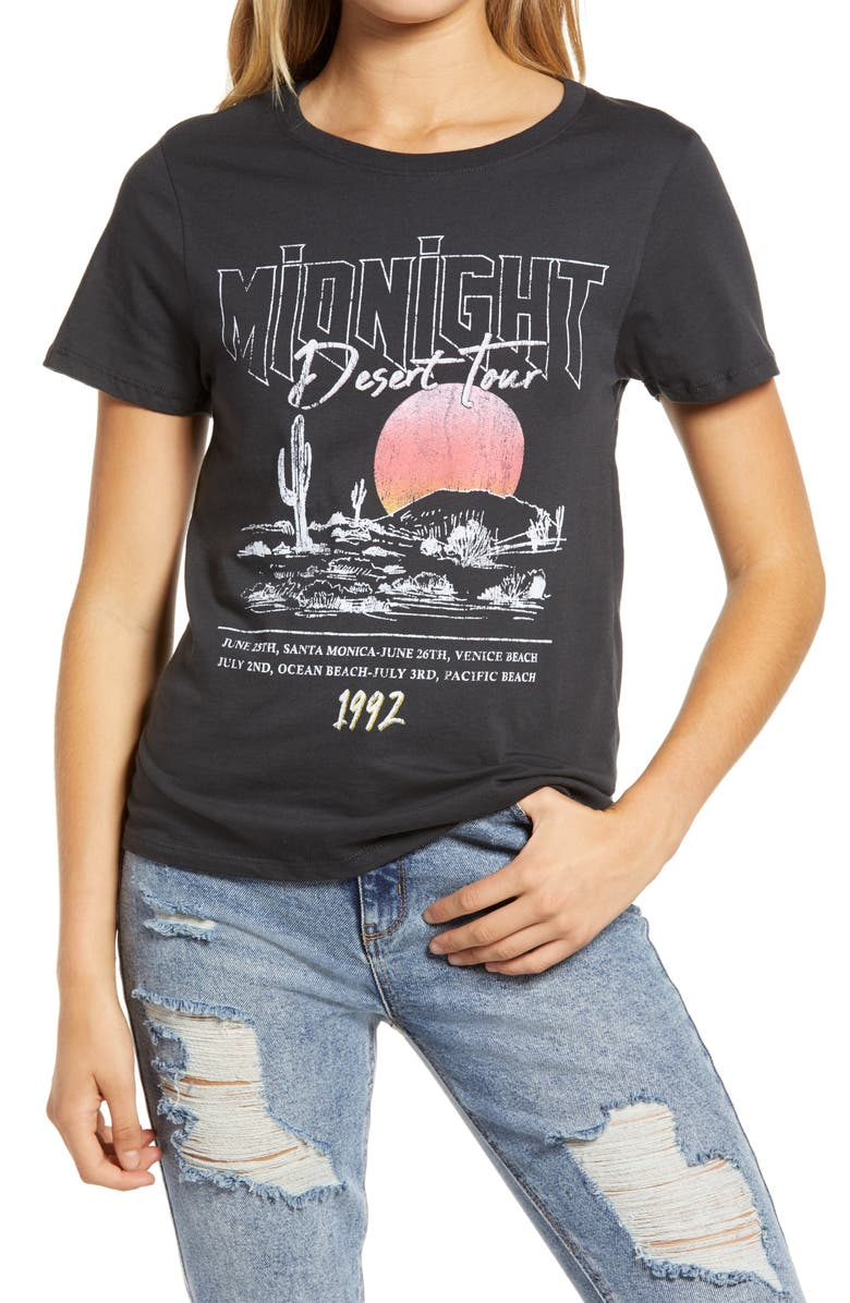 PRINCE PETER Midnight Desert Tour Women's Graphic Tee, Main, color, 001