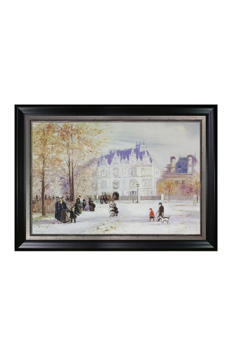 OVERSTOCK ART The Fletcher Mansion, New York City - Framed Oil Reproduction of an Original Painting by Jean Francois Raffaelli, Main, color, MULTI