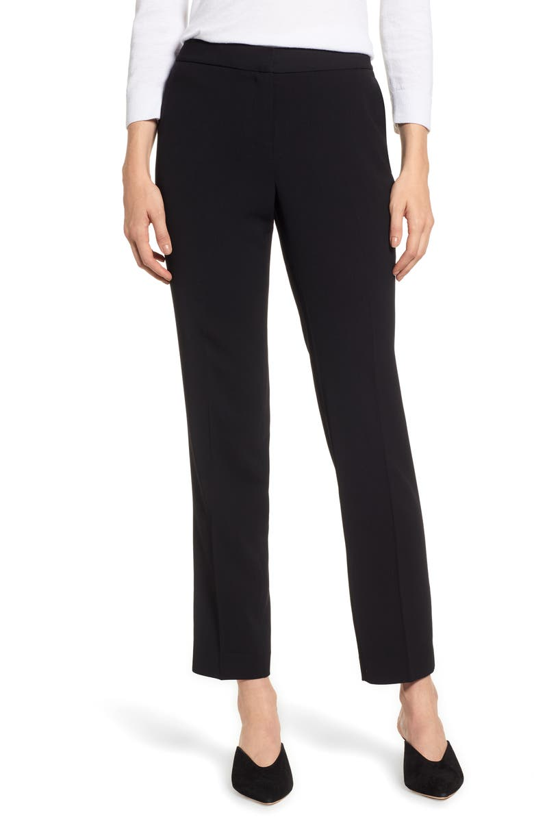 VINCE CAMUTO Textured Skinny Ankle Pants, Main, color, RICH BLACK