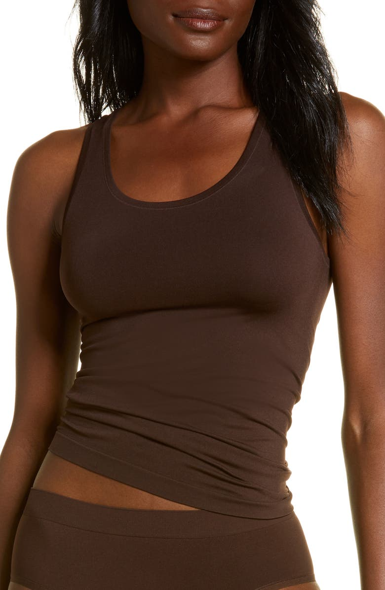 NORDSTROM Bare Tank, Main, color, BROWN COFFEE