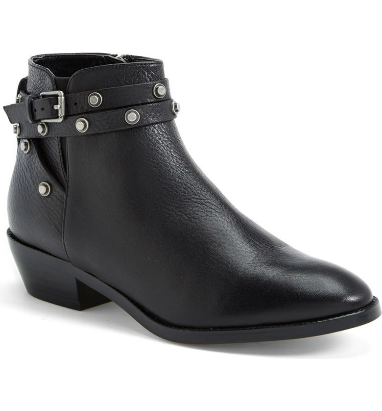 HALOGEN<SUP>®</SUP> Halogen 'Lidia' Studded Leather Ankle Bootie, Main, color, 001