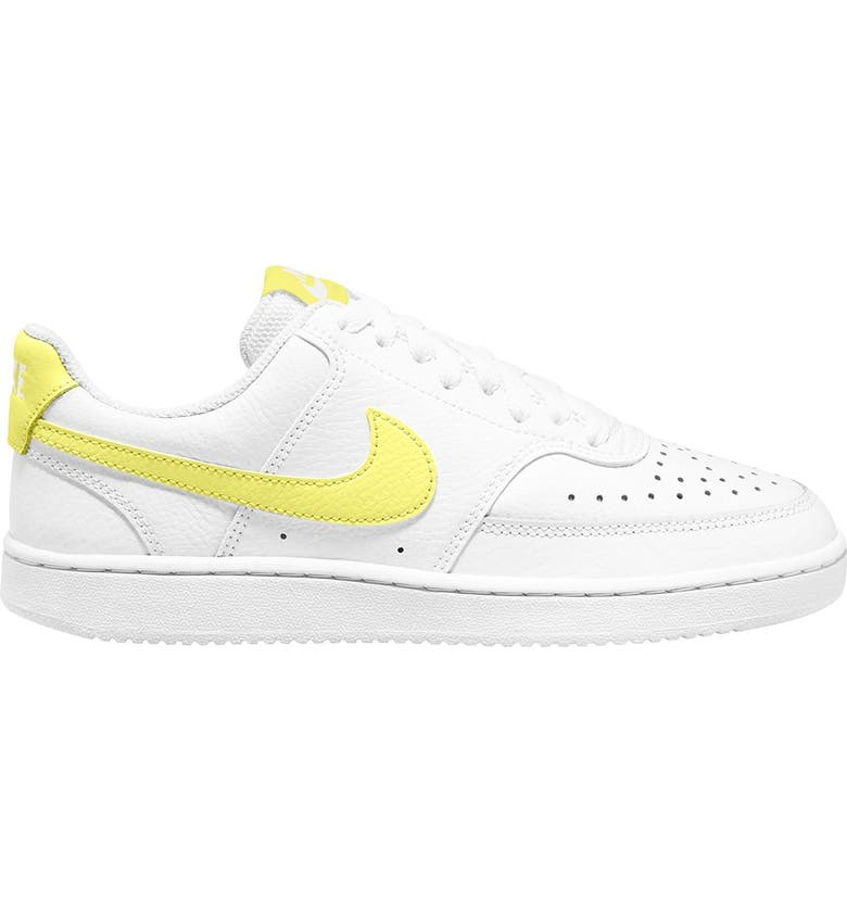 NIKE Court Vision Low Sneaker, Main, color, 109 WHITE/LTZTRN