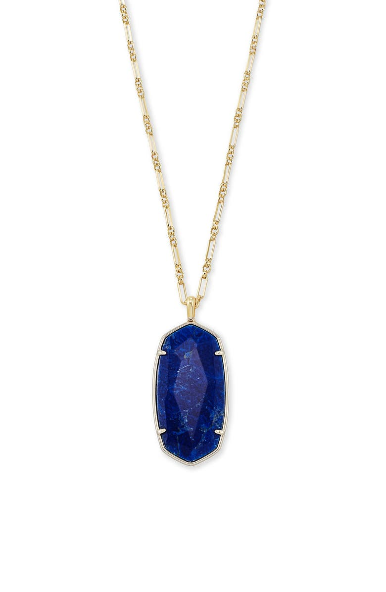 KENDRA SCOTT Reid Long Faceted Pendant Necklace, Main, color, GOLD COBALT HOWLITE