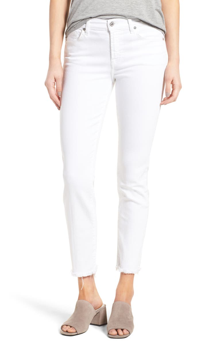 7 FOR ALL MANKIND<SUP>®</SUP> Roxanne Ankle Straight Leg Jeans, Main, color, 101