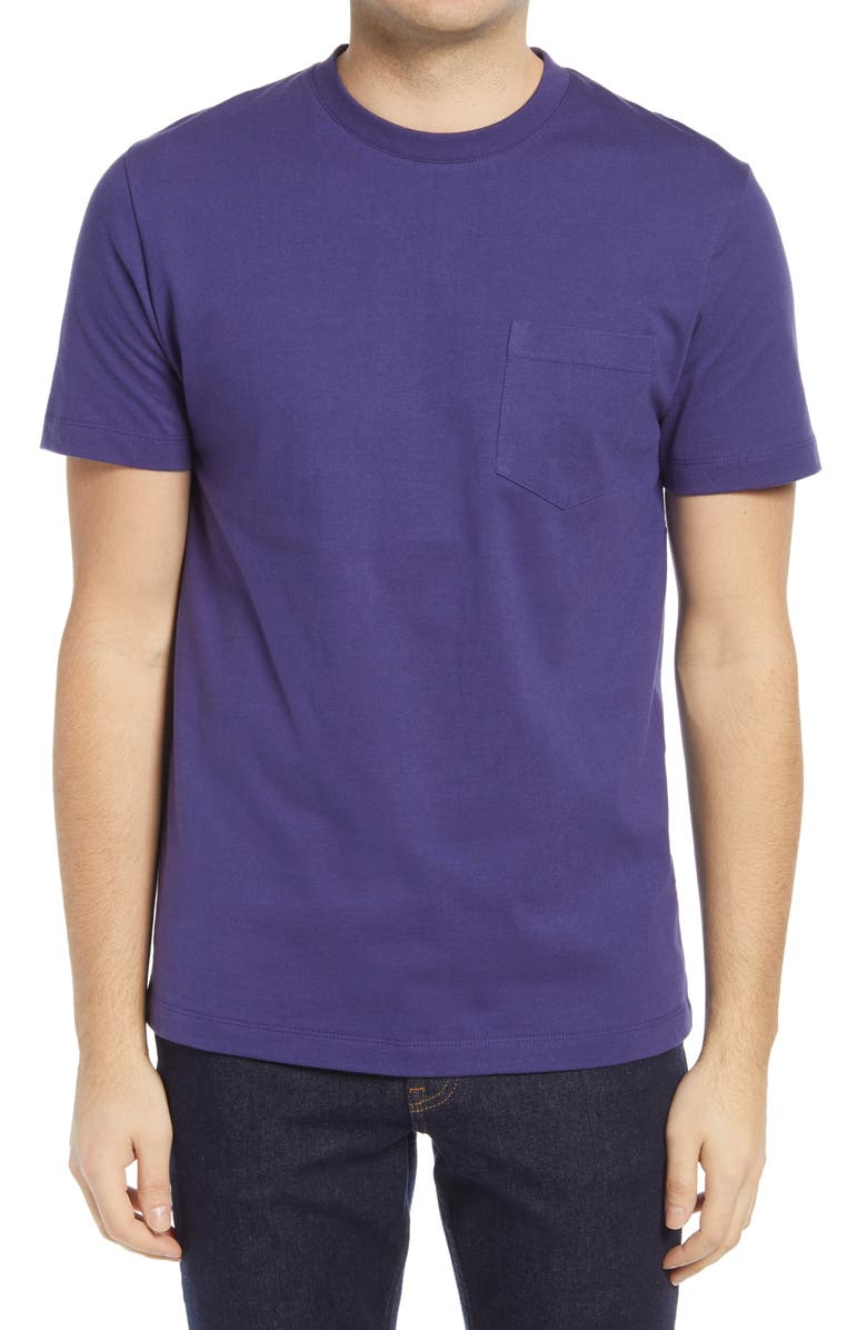 FRENCH CONNECTION Men's Pocket T-Shirt, Main, color, BLUE RIBBON