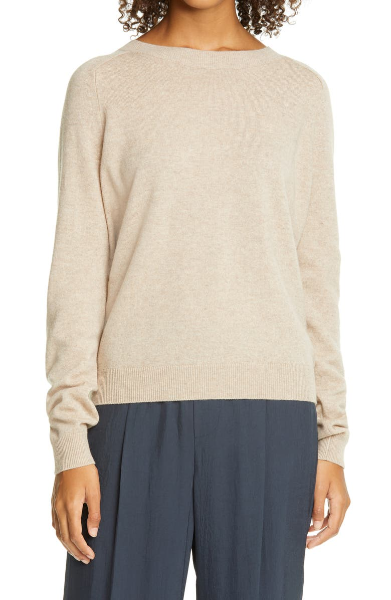 VINCE Wool & Cashmere Sweater, Main, color, LIGHT HEATHER MARZIPAN