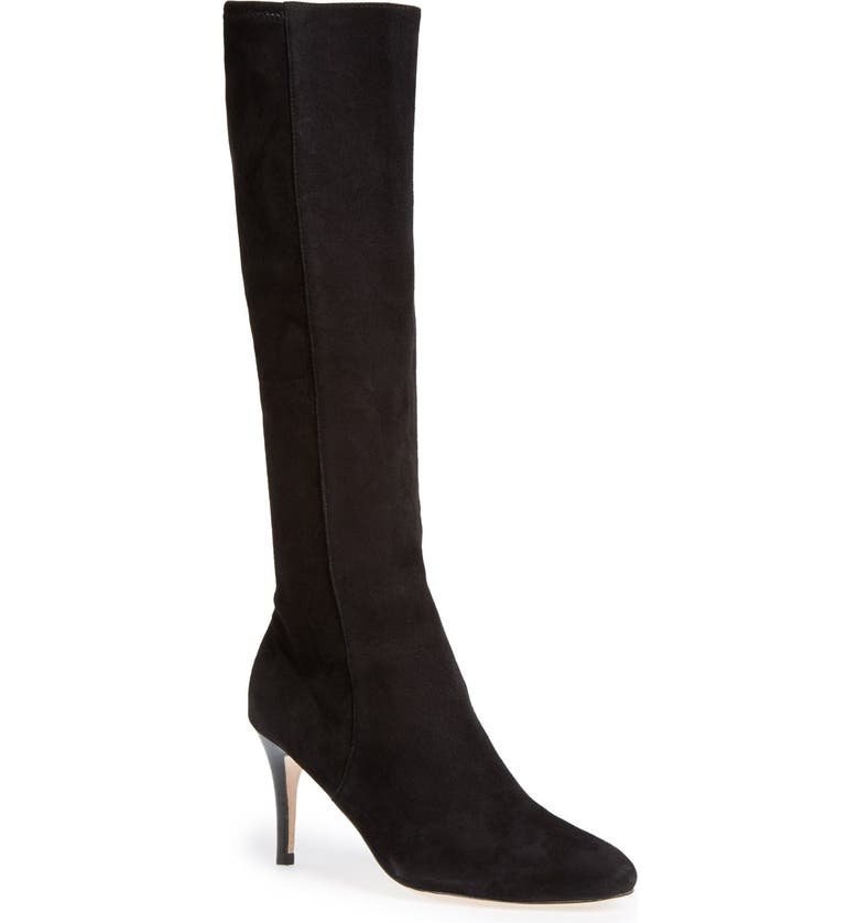 COLE HAAN 'Barnard' Tall Boot, Main, color, BLACK SUEDE