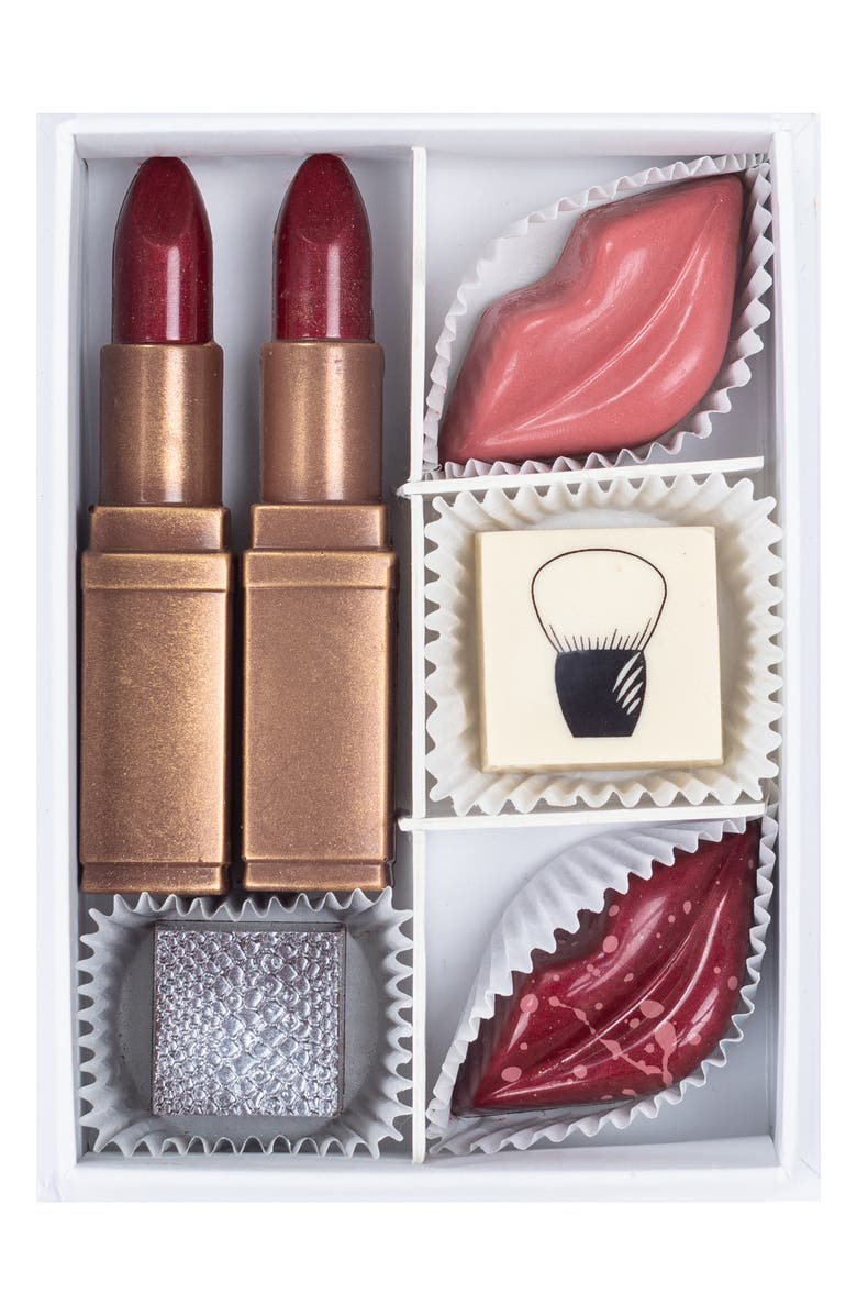 MAGGIE LOUISE CONFECTIONS Beauty Essentials 6-Piece Chocolate Box, Main, color, 100
