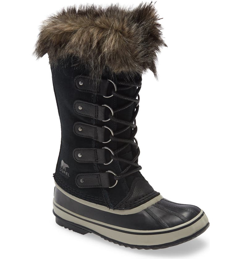 SOREL Joan of Arctic Faux Fur Waterproof Snow Boot, Main, color, 010