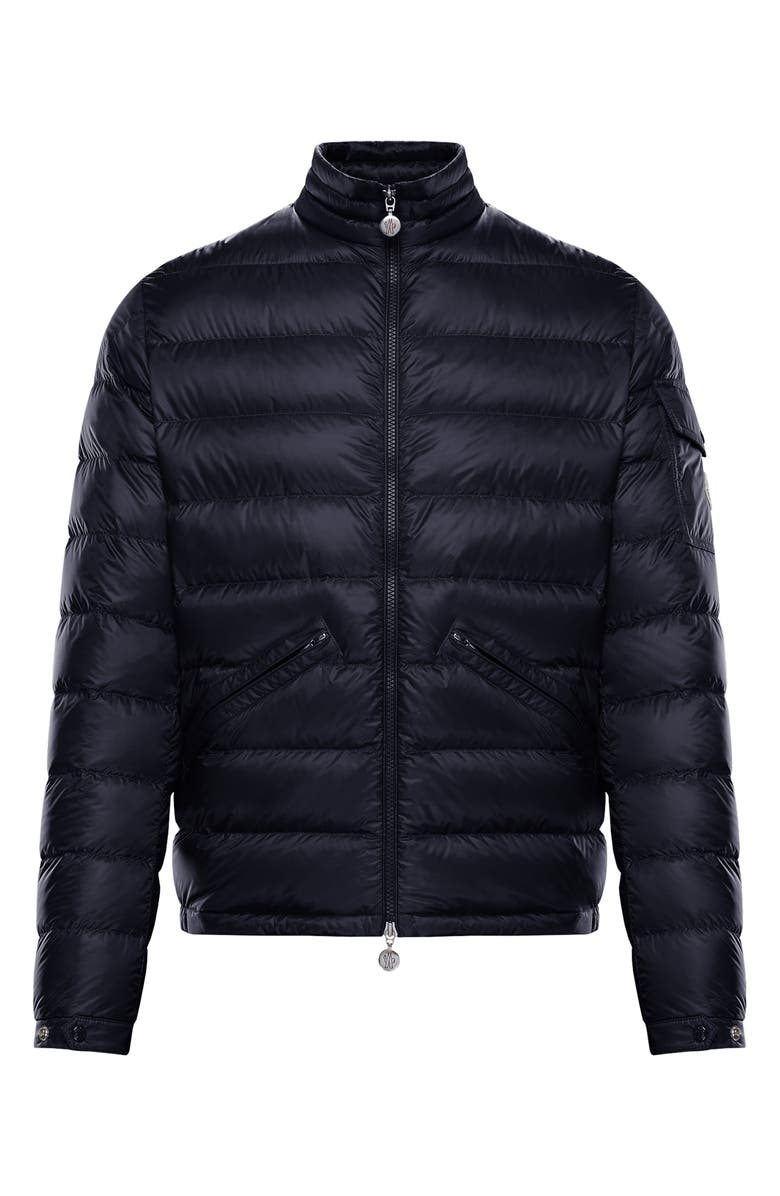 MONCLER Agay Water Resistant Lightweight Down Puffer Jacket, Main, color, NAVY