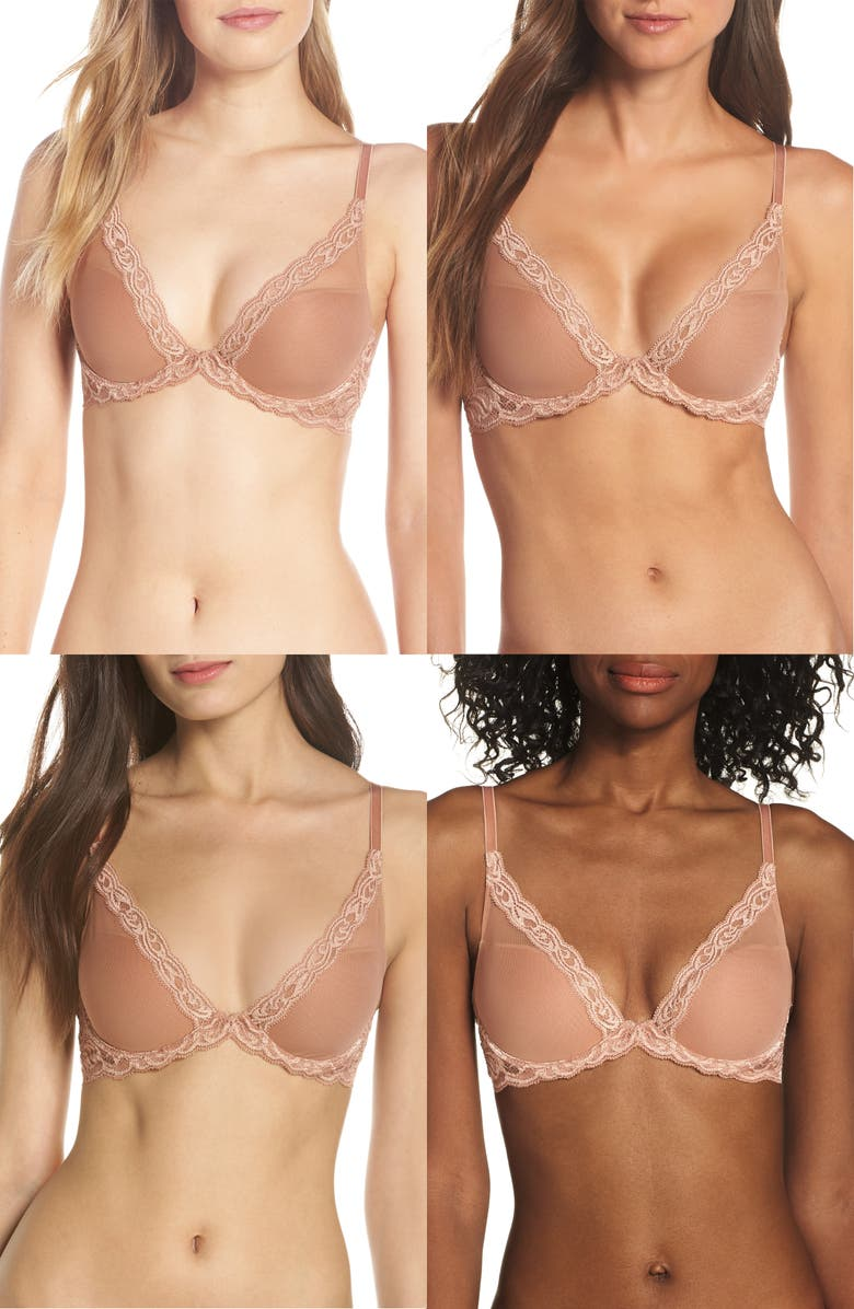 NATORI Feathers Underwire Contour Bra, Main, color, GLOW