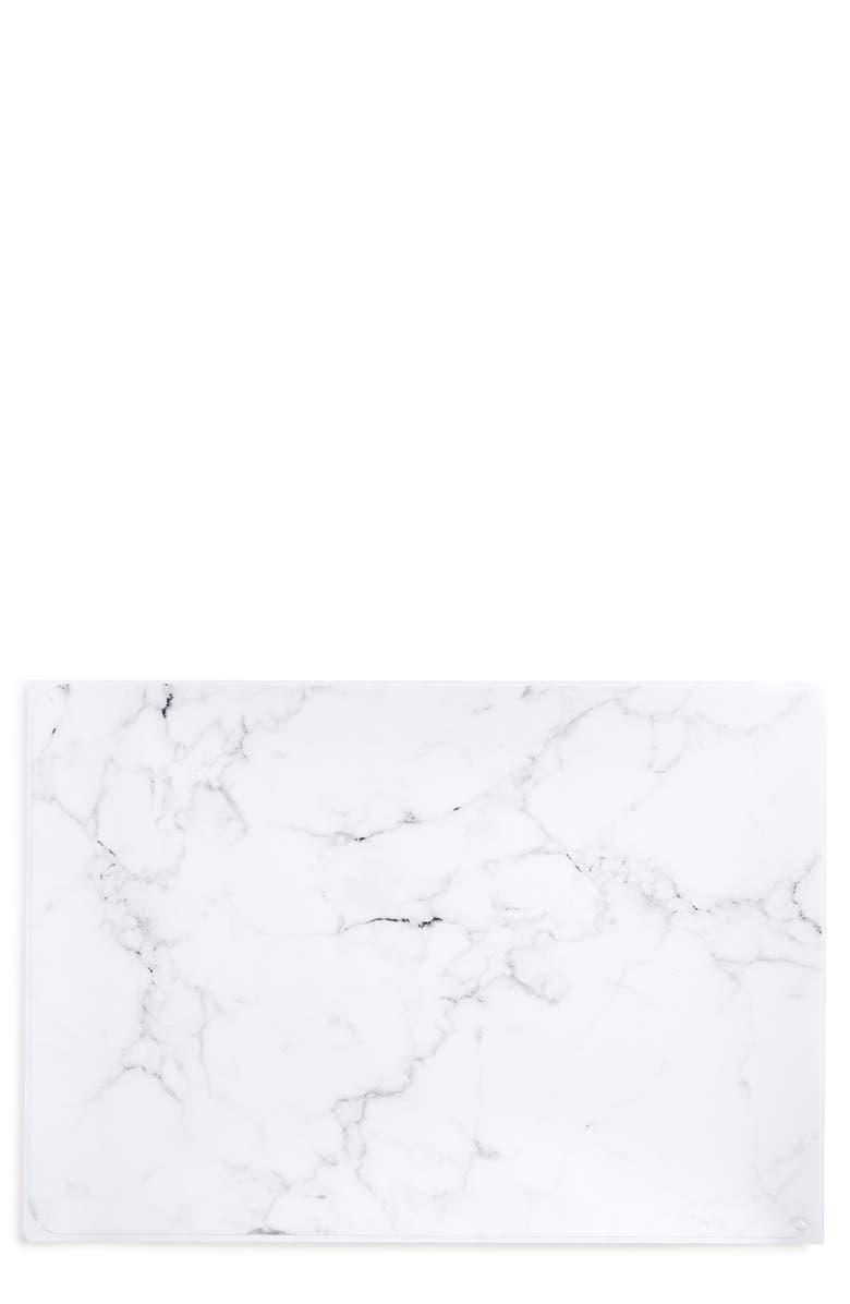 RECOVER White Marble Laptop Skin, Main, color, 960