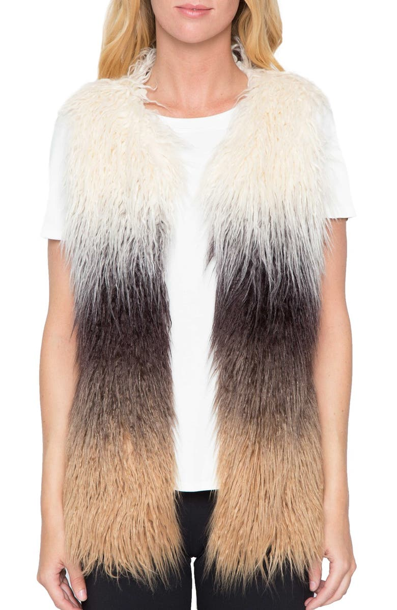 ZZDNU WILLOW & CLAY Willow & Clay Ombré Faux Fur Vest, Main, color, 200