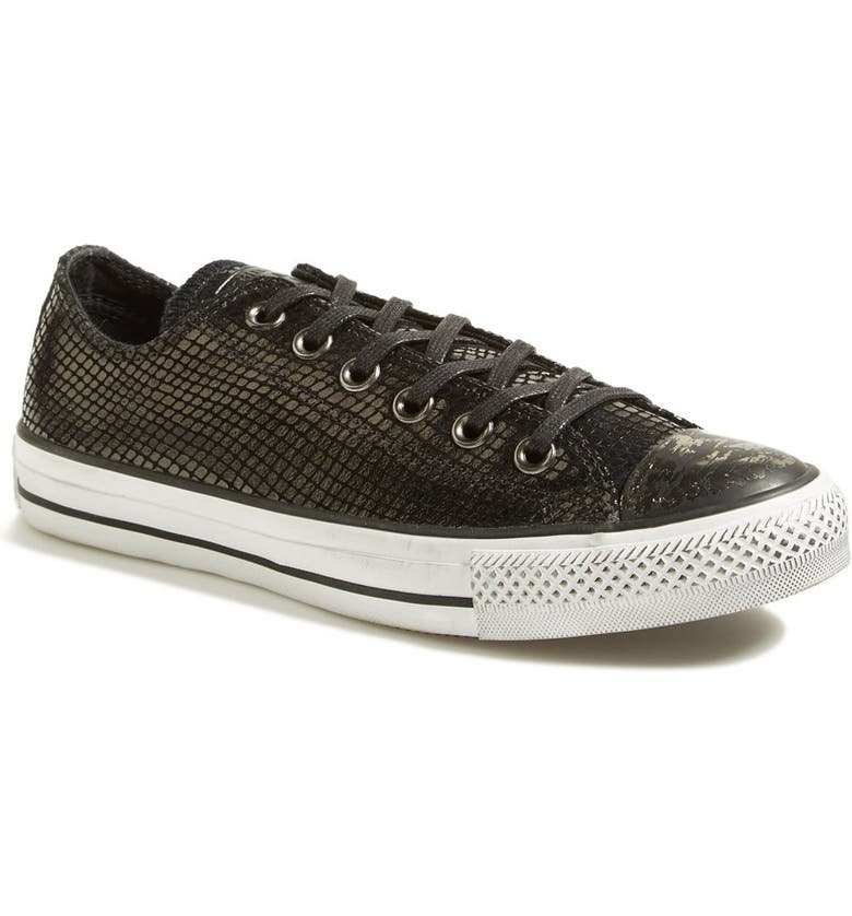 CONVERSE Chuck Taylor<sup>®</sup> All Star<sup>®</sup> Snake Embossed Leather Sneaker, Main, color, Black