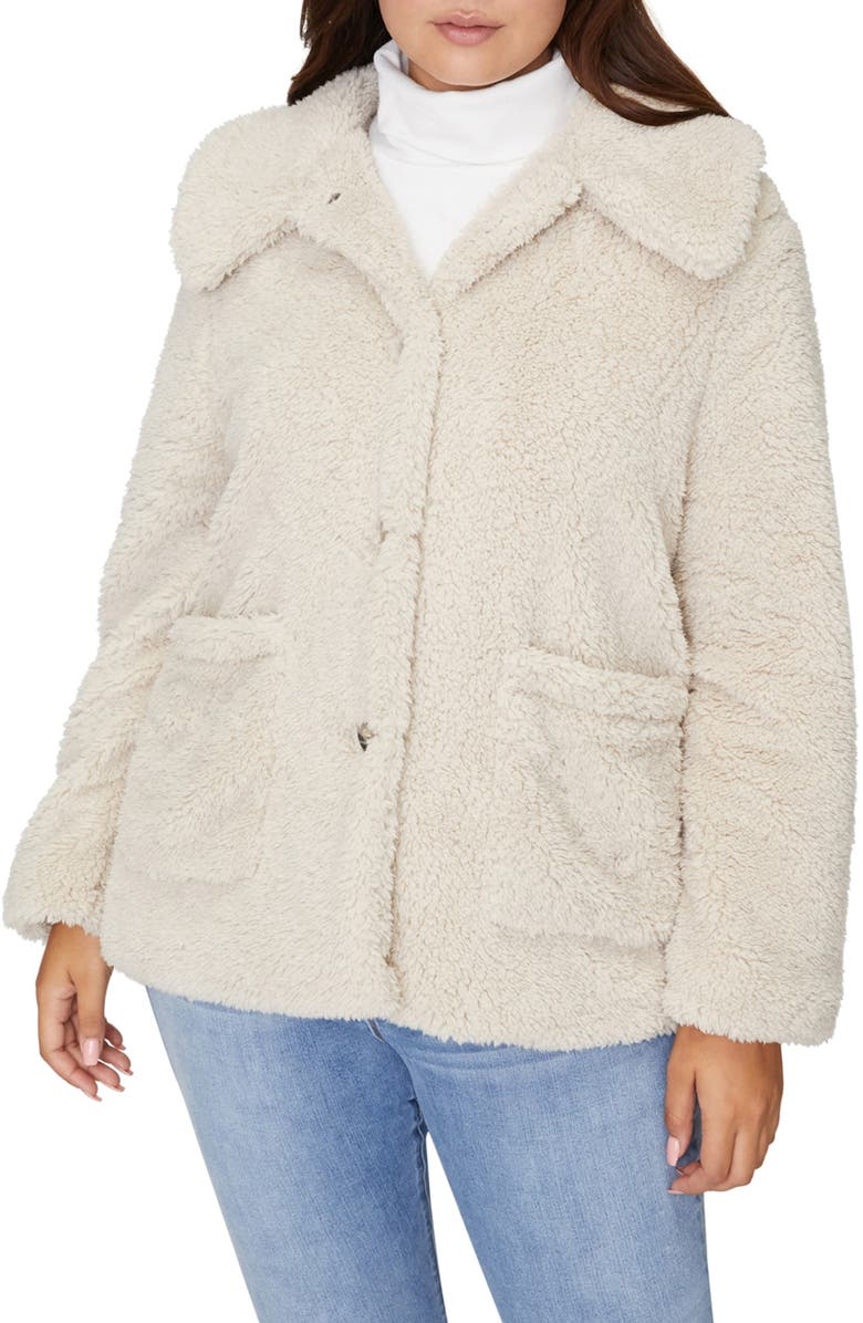 SANCTUARY Faux Fur Teddy Coat, Main, color, 900